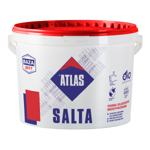 ATLAS SALTA farba silikonowa modyfikowana, 10 litr