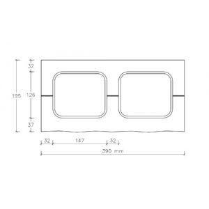 CJBLOK Pustak betonowy elewacyjny PBE-19-1 jednostronnie łupany, 3 image