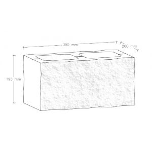 CJBLOK Pustak betonowy elewacyjny PBE-19-2 dwustronnie łupany, 2 image