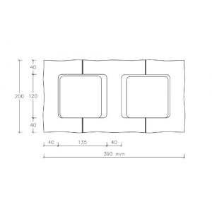 CJBLOK Pustak betonowy elewacyjny PBE-19-4 czterostronnie łupany, 3 image